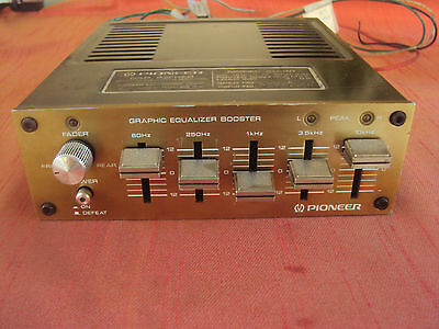 VINTAGE PIONEER AD-30 5 BAND PARAMETRIC GRAPHIC EQUALIZER BOOSTER made in Japan