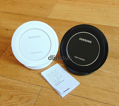 Samsung Galaxy S6/S7/Edge/Note5+Fast Qi Wireless Charger Pad With Stand Black WH