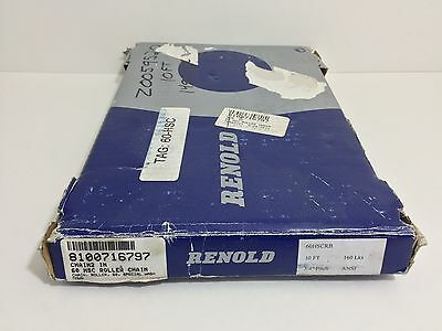 "New! Renold Roller Chain 60Hscrb 10 Feet 160 Links 3/4"" Pitch"