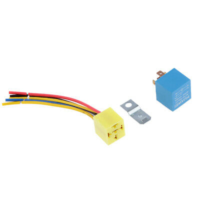 Fused On/Off Automotive Fused Relay 12V 40A 5-Pin Normally Open Car Bike