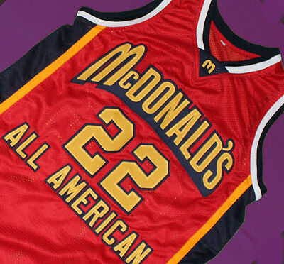 50e71269ca71 CARMELO ANTHONY McDONALD S ALL AMERICAN JERSEY RED SEWN NEW McDONALD ANY  SIZE