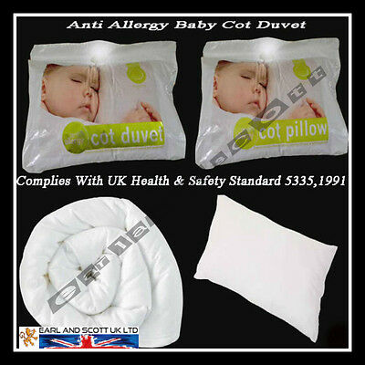 Nursery Baby Junior Toddler Anti Allergy Cot Bed,Cot Duvet Quilt And Pillow New