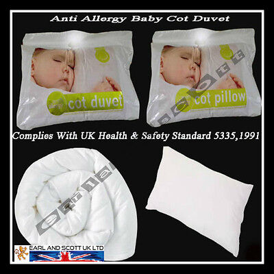 Junior Nursery/Baby/Toddler Anti-Allergy Cot Bed,Duvet Quilts And Pillows