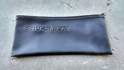 Black Leather Shure Mic Protective Storage Bags Pouches for Beta 87A 58A 57A