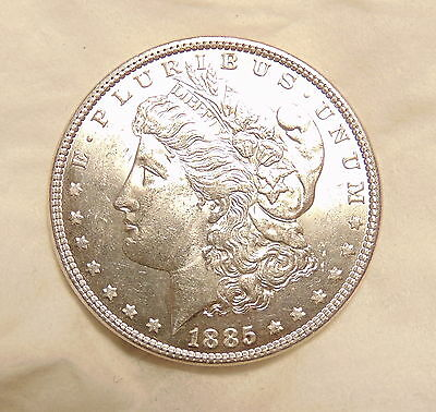 "1885-P Morgan Silver Dollar - VAM 1B ""Pitted Reverse"" HOT 50 - Pretty Unc. Coin"