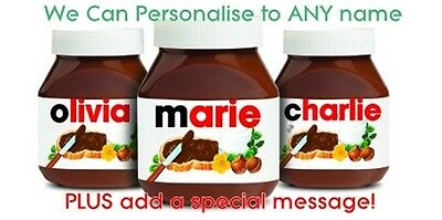 Personalised nutella label and message for nutella jar name custom gift idea