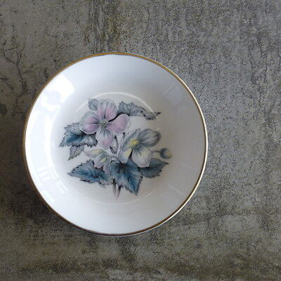 Royal Worcester Woodland Small Pin Dish Butter Pad England 1980s Fine Bone China