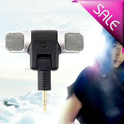 ET 1pc New Mini Stereo Microphone Mic 3.5mm Mini Jack PC Laptop Notebook RQ
