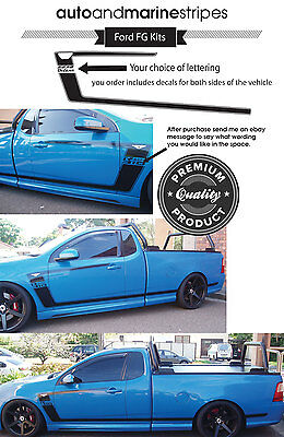 Ford style FG R SPEC Ute striping kits