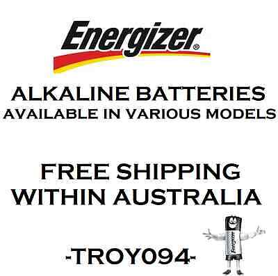 Genuine Energizer Alkaline Battery, Various Models, Made in USA