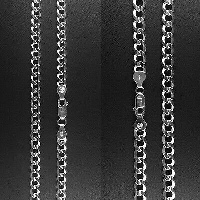 """ITALY 925 Sterling Silver Fancy CURB Chain Necklace-Fency CURB Bracelet- 8""""~24"""""""