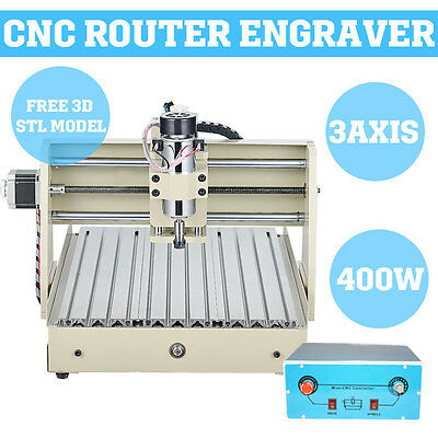3 AXIS CNC 3040T desktop milling Router engraving machine kit Stepping motor int