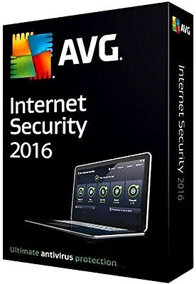 AVG INTERNET SECURITY 2016 - 1 PC for 2 Years - DOWNLOAD ONLY