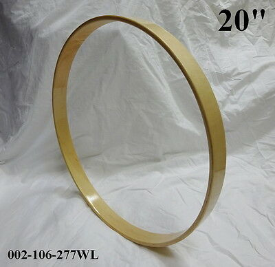 """20"""" Maple Bass Drum Hoop/Ring/Rim (Rounded Front) Lacquered-Clear 002-106-277WL"""