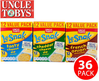 Uncle Tobys LeSnak Variety Value Pack 36 packs x  22g - Cheddar French Onion