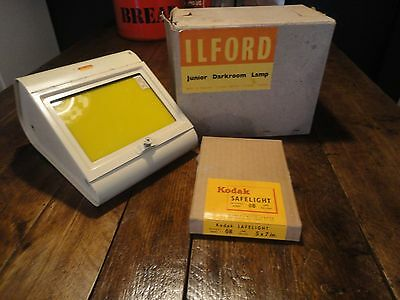 Vintage Boxed Ilford Darkroom Lamp Kodak Safelight Lens Boxed Fully Working