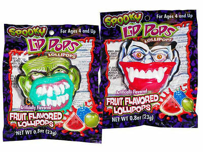 Monster Teeth Spooky Lip Pop Tasty Sour! - Put On a Spooky Face! - 1 x Packet