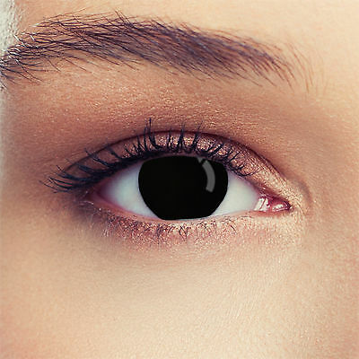 Halloween Blind Black Contact Lenses Lentilles Linsen Worldwide Free Shipping
