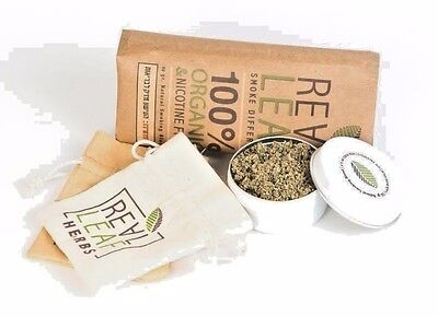 REALLEAF- NATURAL SMOKING BLEND-100% organic Tobacco herbal fusion-Nicotine free