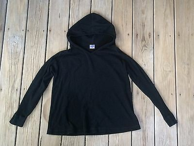 Motherhood Black Hoodie Maternity Long Sleeve Sweater - Large