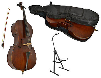 Sotendo Full Size Student Cello with Stand
