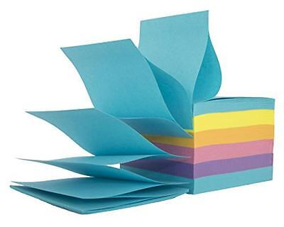 Staples Stickies, Pop-up Sticky Notes, 3x3, 6 Pads of 100 Sheets Per Pack, Assor