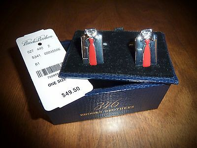 Nwt Gift-Boxed Brooks Brothers *shirt & Red Tie* Cufflinks - Ships Free!