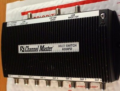 Channel Master Dtv 4 X 8 Multiswitch 6228Ifd 8 Output Matv Coax #m138
