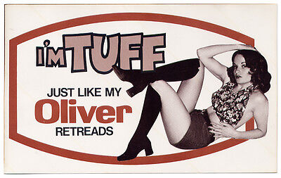 Vintage OLIVER TIRE RETREADS Display STICKER DECAL (1970's) AUTO ADVERTISING