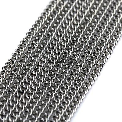 5.5 Yards Craft Curb Chain Link for Jewelry Necklace Making Findings DIY