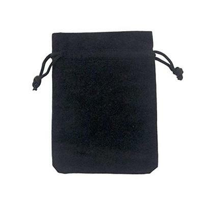 Adorox Small Black Velvet Jewelry Drawstring Gift Pouches Bags Wedding Favors (B
