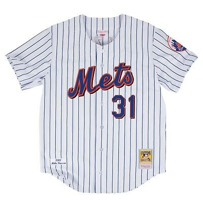 Mike Piazza New York Mets Mitchell   Ness Authentic MLB 2000 Button Up  Jersey ee83d1a3e
