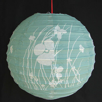 "2 of 12"" Chinese Green Paper Lanterns with Pictures"