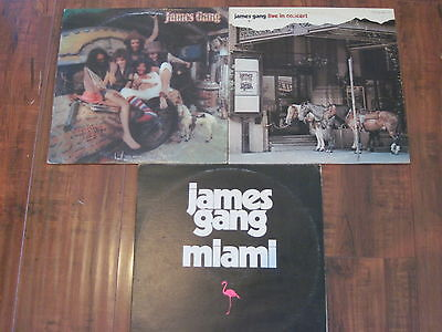 James Gang-Lot of 3 Records/LP's- Bang/ Live In Concert/ Miami