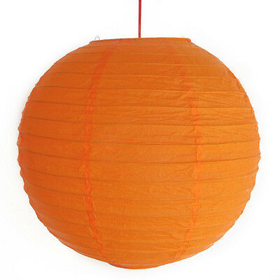 "2 of 12"" Chinese Orange Paper Lanterns"