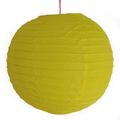 "2 of 12"" Chinese Yellow Paper Lanterns"