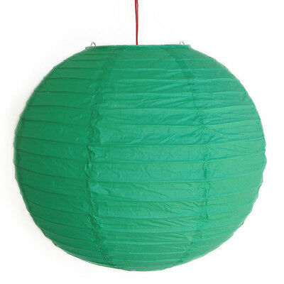 "2 of 12"" Chinese Green Paper Lanterns"
