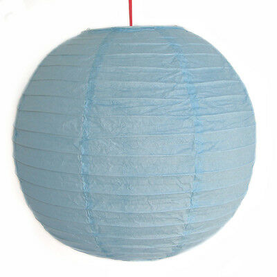 "2 of 12"" Chinese Sky Blue Paper Lanterns"
