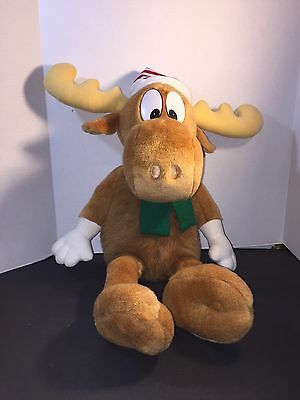 Macy's Rocky Bullwinkle Moose 1996 Christmas Plush 24Tall Rocky Character Movie