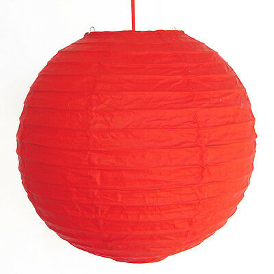 "2 of 12"" Chinese Red Paper Lanterns"