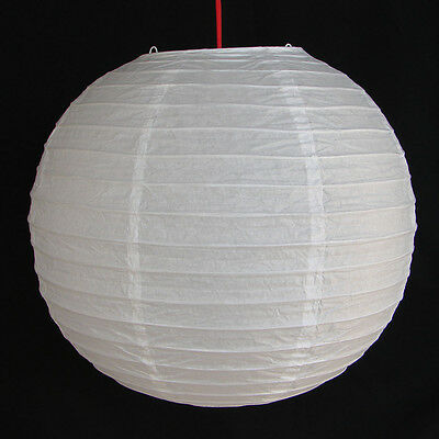 "2 of 12"" Chinese White Paper Lanterns"