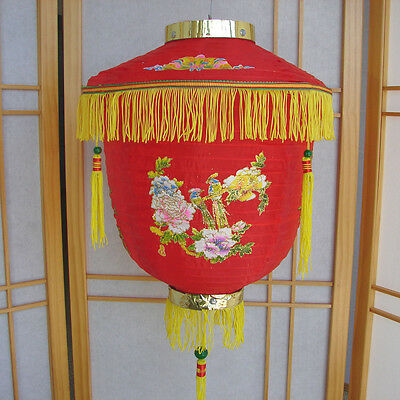 "12"" Chinese Nylon Palace Red Lantern for Party Decoration"