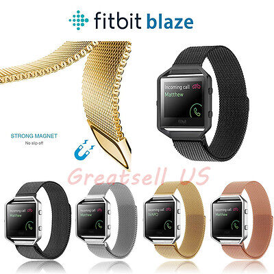 Milanese Magnetic Loop Stainless Steel Wrist Watch Band Strap For Fitbit Blaze