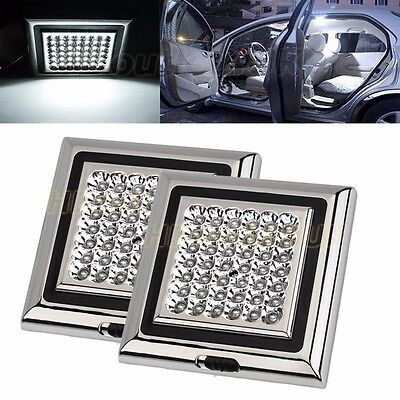 2X 12V/5W 42 LED Bright White Car Van Roof Interior Vehicle Ceiling Dome Light