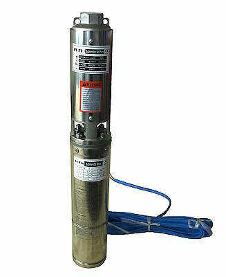 0.37Kw Submersible Pump 4'' Deep Well 230V Stainless Steel 111FT Head Max