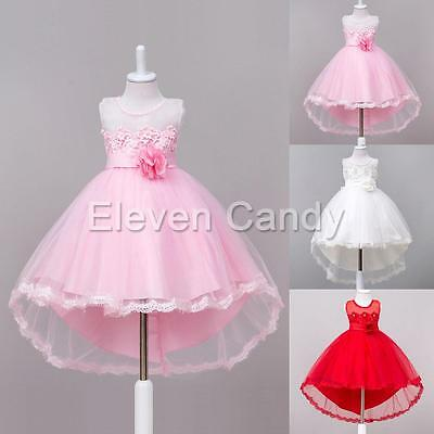 Christening Flower Girls Princess Dress Kids Baby Pearl Gown For Wedding Pageant