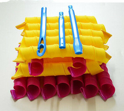 New 20PCS 65cm Magic Hair Curlers Roller Curl Spiral Ringlets Leverage Rollers