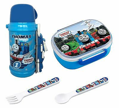 Thomas Set from Japan - Insulating Thermos, 3D Lunch (Bento) Box, Spoon and Fork