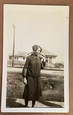 Antique African American Pretty Lady Lovely Pose Old Photo Black Americana