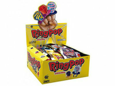 Ring Pop Original Kids Favorite Tasty Candy - Brand New 1 x Pop Great Gift